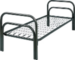 Одноярусные металлические кровати для вагончиков,  кровати двухъярусные