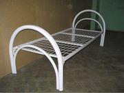 Металлические кровати с ДСП спинками для пансионатов,  кровати оптом.