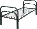 Кровати металлические с ДСП спинками для санаториев,  низкая цена.