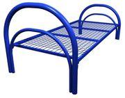 Одноярусные металлические кровати для вагончиков,  кровати оптом