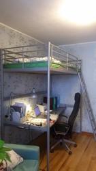 Кровать чердак икеа 90х200см,  матрас и столешница