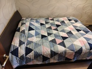 Кровать двуспальная натуральное дерево